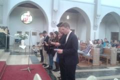 en la misa